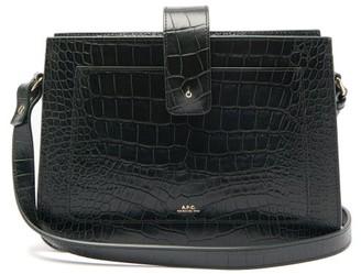 A.P.C. Albane Crocodile-effect Leather Cross-body Bag - Womens - Green