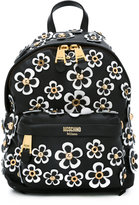 Moschino daisy appliqué backpack - women - Leather/metal - One Size