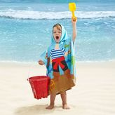 Bed Bath & Beyond Kids' Pirate Velour Hooded Towel in Blue/Red