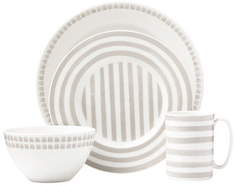 Kate Spade Charlotte Street Grey North 4 Piece Place Setting