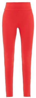 Vaara Lillie Zipped-cuff Performance Leggings - Womens - Red Multi
