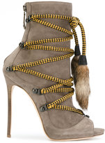 DSQUARED2 bungee rope ankle boots - women - Leather/Suede - 36