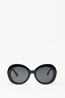 Nasty Gal Womens Welcome to the Sixties Round Sunglasses - Black - One Size