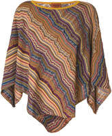 Missoni knitted poncho