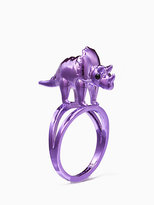 Kate Spade Whimsies triceratops ring