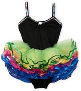 popatu (Girls 4-6x) Sequin Trim Tutu Bodysuit Dress