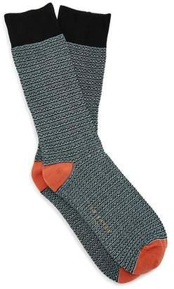 Ted Baker Groov Zigzag-Pattern Socks