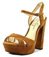 Jessica Simpson Naidine 2 Open Toe Suede Platform Heel.