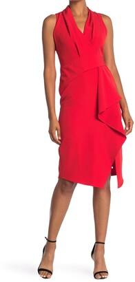 Taylor Crepe Stretch Asymmetrical Dress