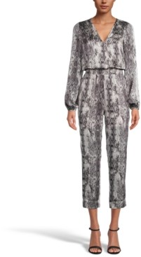INC International Concepts Inc Snake-Print Jumpsuit, Created for Macy's