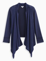 Splendid Girl Knit French Terry Mix Wrap Sweater