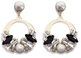 Anton Heunis Vintage stone stud Swarovski crystal hoop earrings
