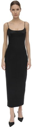 Alexander Wang Crepe & Satin Straight Dress