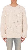 Maison Margiela Men's Wool Oversized Distressed Sweater-IVORY