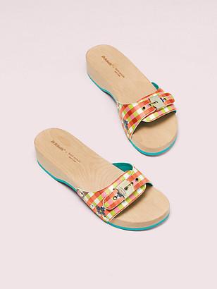 Kate Spade Dr. Scholl's X Bella Plaid Slide Sandal
