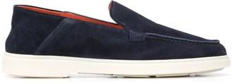 Santoni Flat Slip-On Loafers