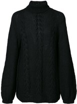 Voz turtleneck knitted top