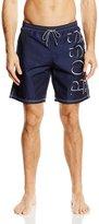 HUGO BOSS Men's Swim Shorts in New Killifish Style, Navy Medium