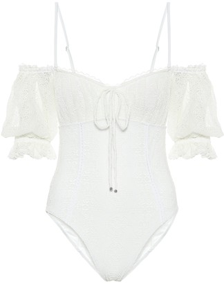 Jonathan Simkhai Sailor off-shoulder swimsuit