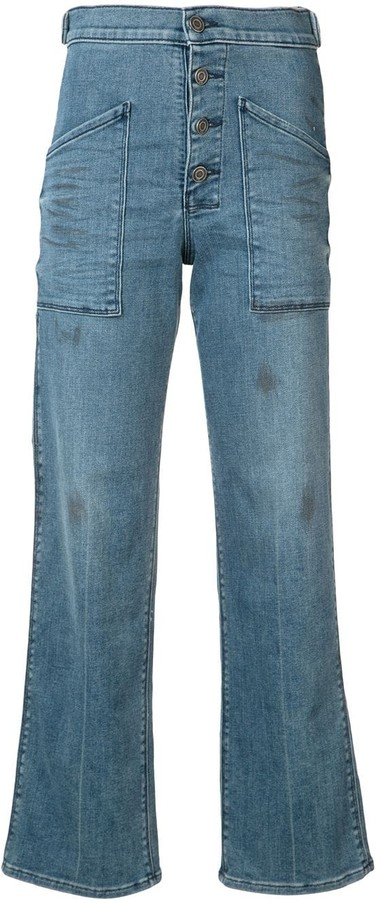RtA Worker high-waist flared jeans