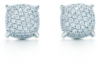 Tiffany & Co. Paloma's Sugar Stacks earrings in 18k white gold with diamonds