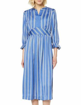 Scotch & Soda Women's Midi Length Dress with Fitted Waist