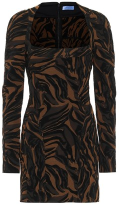 Thierry Mugler Printed stretch-crepe minidress