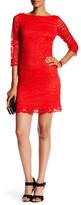 Eliza J 3/4 Length Sleeve Sheath Dress