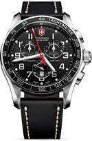Swiss Army Victorinox Classic Chronograph Watch with Leather Strap, 45mm