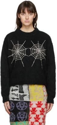Ashley Williams Black Crystal Cobweb Sweater