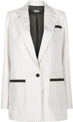 Karl Lagerfeld Paris College pinstripe blazer jacket