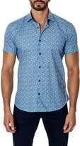 Jared Lang Woven Printed Short Sleeve Trim Fit Shirt
