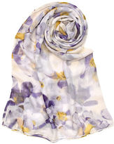 Lord & Taylor Sheer Petals Oblong Scarf