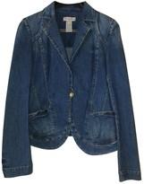 Christian Lacroix Blue Cotton Jacket for Women Vintage