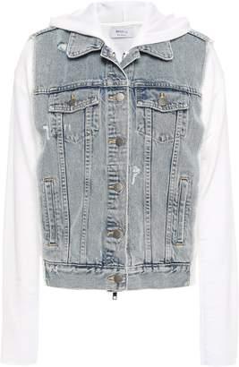 Bailey 44 Denim-paneled Cotton-fleece Hooded Jacket