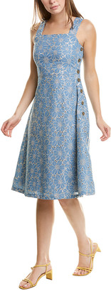 Maggy London Eyelet A-Line Dress