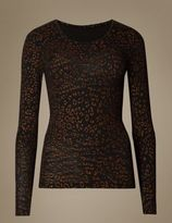 Marks and Spencer HeatgenTM Glitter Long Sleeve Thermal Top