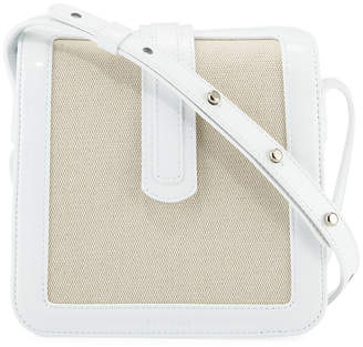 Complet Jade Patent/Canvas Crossbody Bag