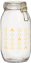 Global Amici Luxe Triangles Wesbter Large Hermetic Glass Canister