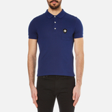 Versace Men's Medusa Logo Polo Shirt Blue