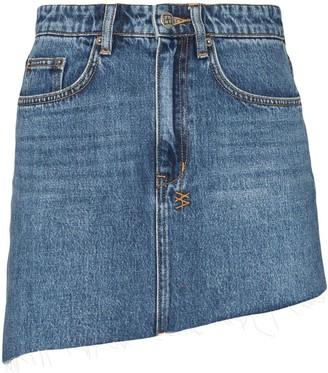 Ksubi Sloane asymmetric denim skirt