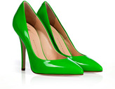 Neon Green Patent Leather Pumps