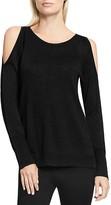Vince Camuto Cold-Shoulder Glitter Sweater