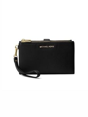 MICHAEL Michael Kors Double Zip Leather Wristlet