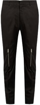 Alexander Mcqueen Zip-cuff Straight-leg Cotton Trousers