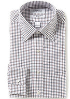 Daniel Cremieux Non-Iron Fitted Checked Grid-Pattern Spread-Collar Dress Shirt