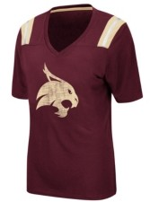 Colosseum Women's Texas State Bobcats Rock Paper Scissors T-Shirt