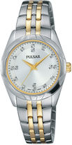 Pulsar Ladies Night Out 2 Womens Crystal Accent Two-Tone Bracelet Watch