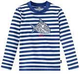 Schiesser Boy's Aqua Capt ́n Sharky Bade-Shirt Swimsuits