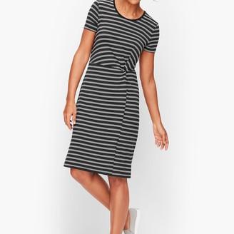 Talbots Stripe Fluid Knit Twist Dress